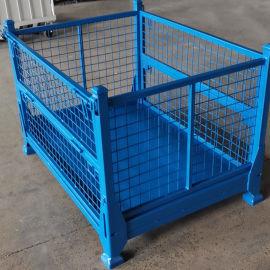 折叠金属货箱 金属周转箱仓储笼 围栏托盘箱