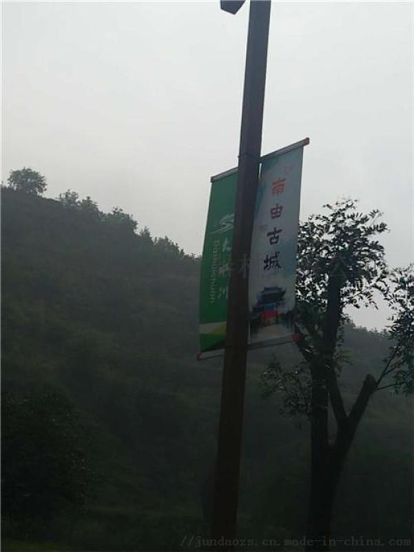 公路边上海灯杆旗制作厂家直销