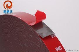 红膜黑色双面胶带 海绵双面胶带 PE强力泡棉胶