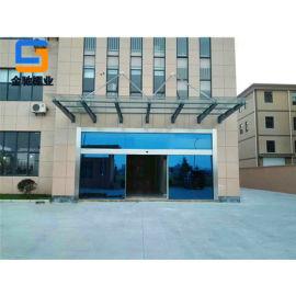 宁波厂家定制玻璃雨棚,门头雨棚,办公楼雨棚