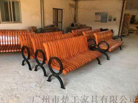 酒店庭院防腐木弧形座椅,室外园林木坐凳