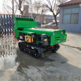 果园开沟施肥机 自走式履带开沟除草机 多功能开沟机
