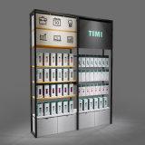 工厂直销饰品店靠墙钢木货架环保免漆板单面货架冷轧钢架饰品展柜