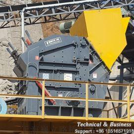 新型液压反击破,石灰岩破碎机,大料口反击破