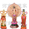 直销佛像镀金地藏王菩萨地藏菩萨童子树脂神像