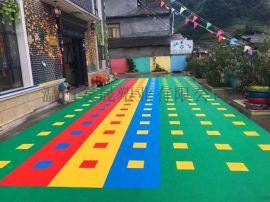 运动防滑篮球场地板弹性幼儿园悬浮式地垫厂家悬浮地板