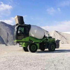 厂家直销 自动上料攪拌車 混凝土攪拌車双向卸料