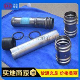 河北鸿资管道专业生产声测管 钳压式声测管 规格齐全