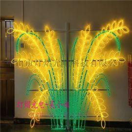 國慶街道亮化 LED燈杆造型燈麥穗圖案燈 市政工程