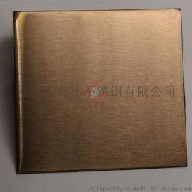 201不锈钢板材批发雪花砂玫瑰金不锈钢板材供应商