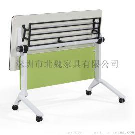 廠家直銷可翻動可移動學生桌-多功能折疊培訓桌