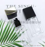 透明玻璃_粉底液精华瓶_方形化妆品瓶_厂家直销