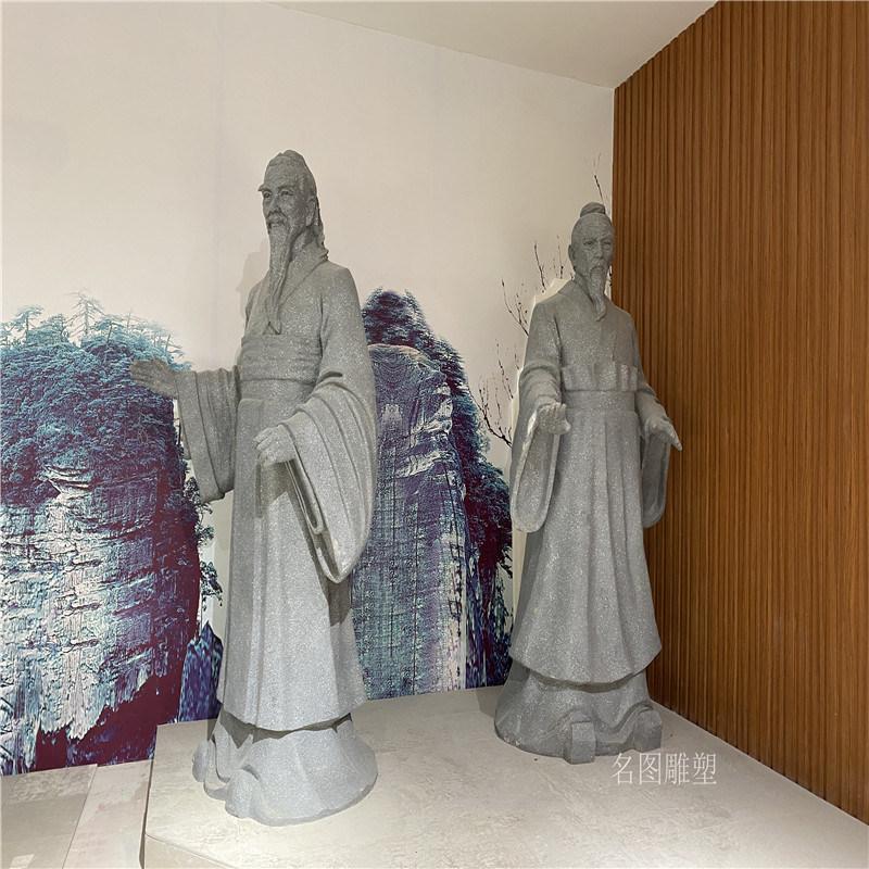 广东情景人物雕塑 玻璃钢小品人物雕塑安装于一体