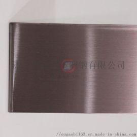 不锈钢装饰板价格 高比钢业发纹褐色
