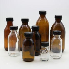 小口瓶棕色试剂瓶玻璃口服液瓶茶色避光瓶玻璃瓶