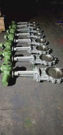 PZ973W电动高温耐磨刀闸阀、电动不锈  闸阀