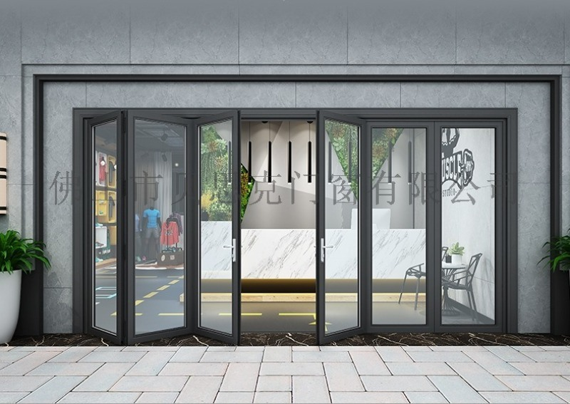 重型铝合金折叠门 贝思克折叠门 隔音防盗折叠门