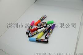 厂家直销10mm液体粉笔荧光笔环保可擦