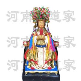 玻璃钢十二老母神像 河南佛道家十二老母神像