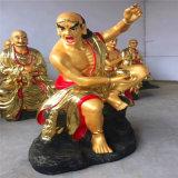 樹脂佛像生產廠家,十八羅漢佛像,貼金十八羅漢雕塑廠