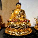 佛教西方三圣生漆脱胎佛像厂家 西方三圣脱胎佛像定制