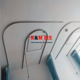 隔帘轨道 铝合金L型U型隔断帘导轨 尺寸可定制