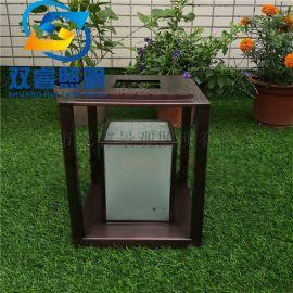 房地产磨砂玻璃草坪灯厂家定制特色紫铜拉丝柱头灯