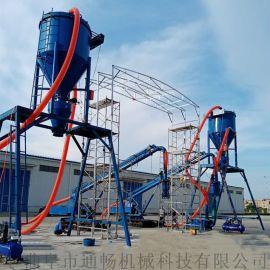 风力输送石灰石粉倒仓库设备粉煤灰自动装车气力输送机