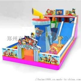 山西晉城廟會經營兒童充氣滑梯蹦牀收益好
