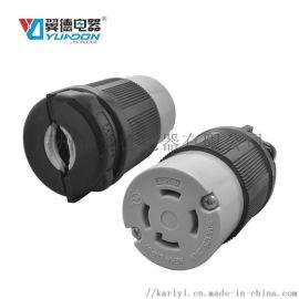 美国工业插座 美标美式插座 UL防脱落连接器