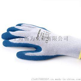 霍尼韦尔天然乳胶手套 涤纶针织涂层劳保手套