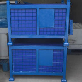 仓储笼 折叠式金属周转箱 折叠铁框 铁板仓库笼