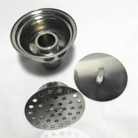 防鼠防臭洁净地漏 不锈钢地漏 药厂用卫生级地漏