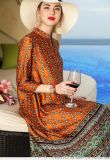 艾利歐2020春五分袖寬鬆中長款裙子女裝進貨便宜