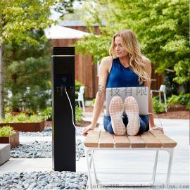 中赛创太阳能户外手机充电桩立柜式充电站