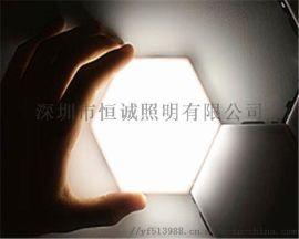 量子灯触摸款 蜂巢灯六边拼接灯 6片/套装 含电源