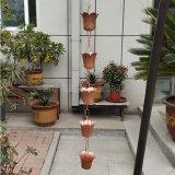 山东泰安市寺庙用排水链 纯铜雨链固定方法