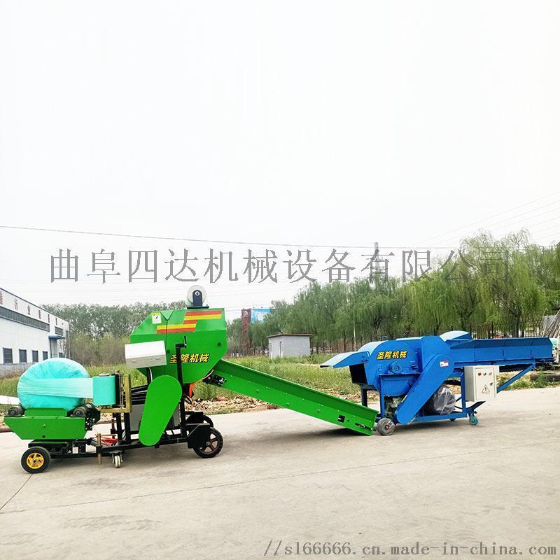 全自动青贮圆捆机 全自动秸秆青储打包机厂家