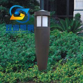 售楼部户外草坪灯定制中式简约不锈钢柱头灯