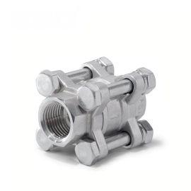 进口三片式立式止回阀-不锈钢304-水-内螺纹
