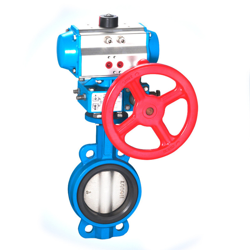 蘭高氣動排污對夾蝶閥閥位反饋裝置