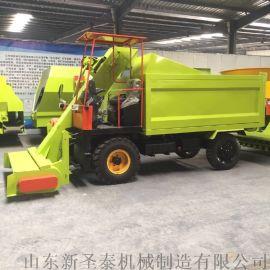 畜牧粪便收集运输车 自装自卸式粪便铲粪车
