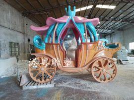4米高大型玻璃钢马车雕塑万圣节日树脂景区摆件