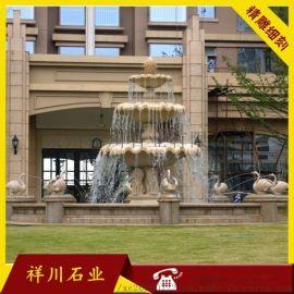 景观喷泉雕刻 石材流水珐 大理石水珐 水钵石材厂