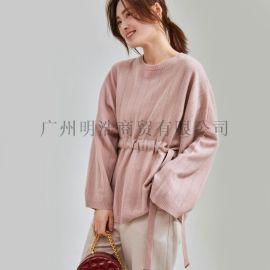 优选女装品牌阿拉贝尔休闲毛衣折扣尾货剪标