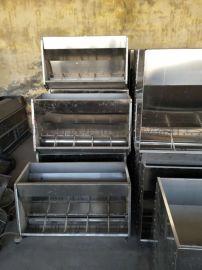 不锈钢双面料槽猪采食槽单面猪用自动下料槽