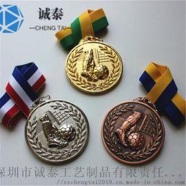 厂家直销奖牌定制足球比赛奖牌金银铜奖牌制作