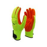 五级防切割荧光黄TPR加厚手套