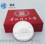 金属纪念币制作,纯金纯银纪念币,高档镀真金纪念币