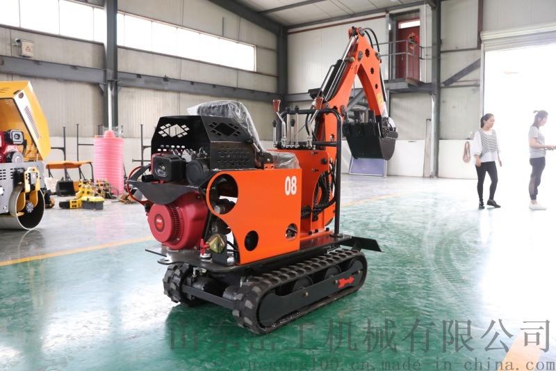 农用工程 山东岳工YG-08小型挖掘机 履带式